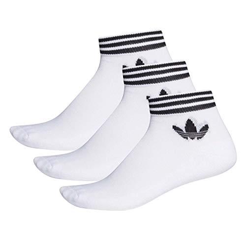 adidas Herren Socken 3 Paar Trefoil Ankle, White/Black, 39-42, EE1152