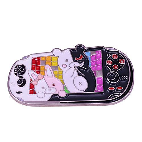 Disparador Happy Havoc Broche y Pin Consola de Juegos Negro y Blanco...