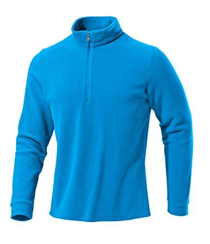 Medico Herren Ski Shirt, Fleece, Langarm, Reißverschluss(Blau, 56)