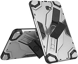 حافظة Samsung Galaxy Tab A 10.1 2016 - T580 - T585 - مسند وحامل للظهر غطاء واقي متين مضرع - فضي