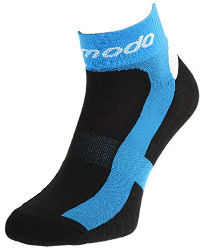 Comodo 1 Paar Fahrrad-Socken|Damen/Herren|Funktionssocken|Bike|Mountainbike|Rennrad|Radfahren|Biking|Jogging|STB|Größen:35-38|Farbe:Black/Blue