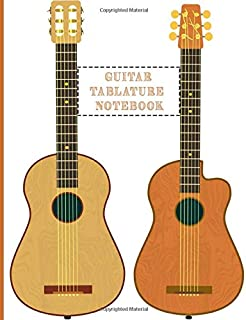Guitar Tablature Notebook: Design With Musical instruments Blank Guitar Tab Notebook For Guitar composing guitar music Notes And Perfect Gifts For Guitar Lovers