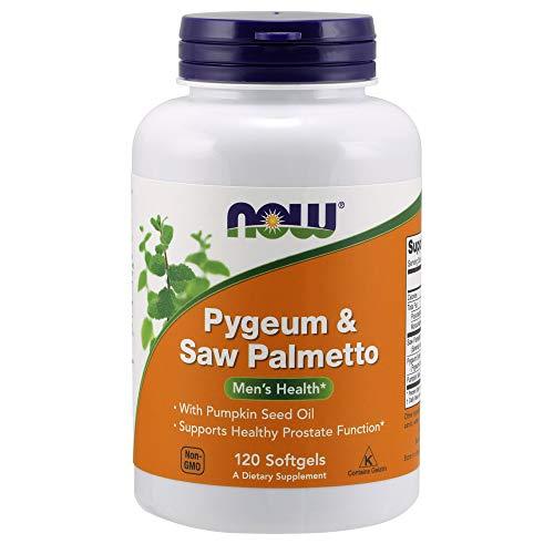 Now Foods | Pygeum und Saw Palmetto (Sägepalme) | 120 Weichkapseln | hochdosiert | ohne Gentechnik | Glutenfrei | Sojafrei