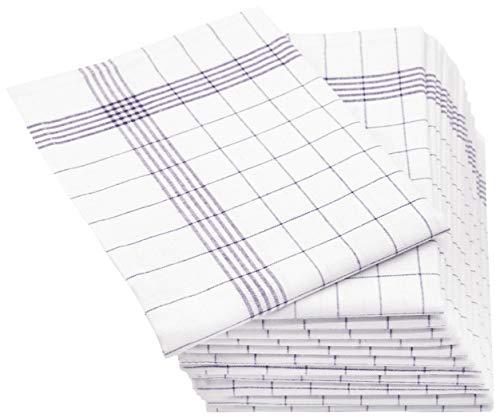 ZOLLNER 12er Set Geschirrtücher Halbleinen, 50x70 cm, grau
