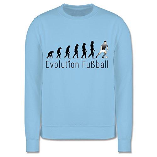 Shirtracer Evolution Kind - Fußball Evolution - 128 (7/8 Jahre) - Hellblau - Geschenk - JH030K - Kinder Pullover