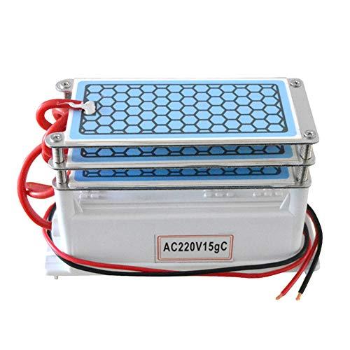 WWK Generador de ozono 220V 15G, Bricolaje purificador de Aire, 3-Capa de ozono de la máquina Eliminar los Gases nocivos como el formaldehído benceno Conveniente para el hogar fábrica Coches