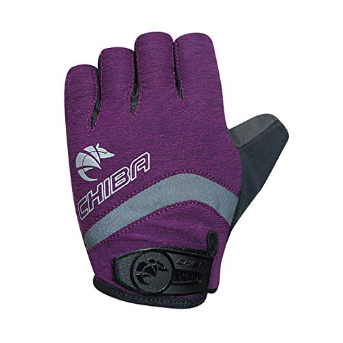 Chiba BioXCell Damen Fahrrad Handschuhe kurz lila 2021: Größe: M (8)