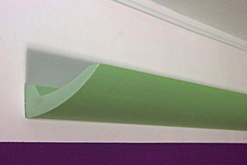 BENDU - Moderne LED Stuckleiste - Stuckprofil für indirekte Deckenbeleuchtung - schlicht und geradlinig für den Einsatz im Schlafzimmer, Wohnzimmer oder auch Wellnessbereich DBKL-125-ST von BENDU
