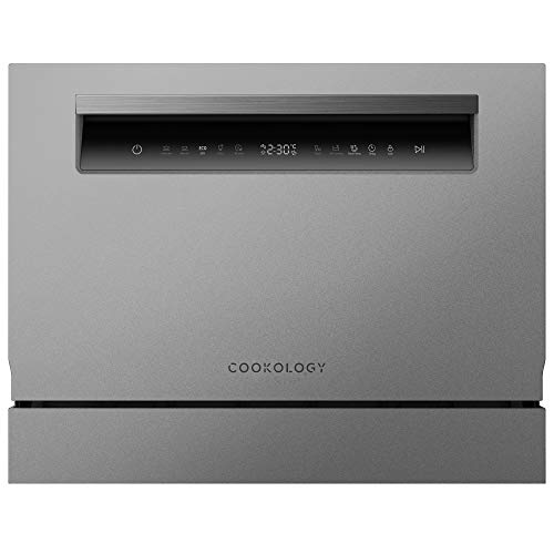 Cookology Touch Control Compact Table Top Dishwasher, 6 place Setting (Silver)