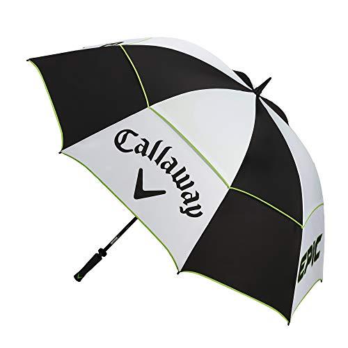 "Callaway Golf Double Canopy 68"" Umbrella Epic Edition White/Black/Green"