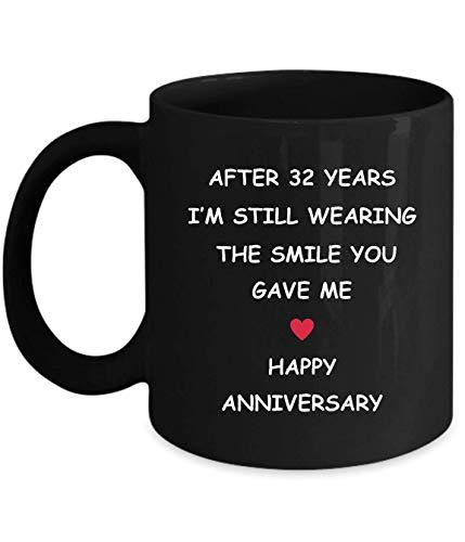 Lsjuee 32 Aniversario Regalos para su esposa Esposo Novia Novio 32 años Año 32 años Treinta y dos segundos Boda romántica Re