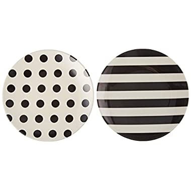 Kate Spade New York Raise a Glass Tidbit Plate, Black/White
