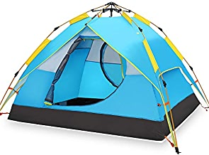 Hewolf Camping Tent 3-4 Person [Instant Tent] Waterproof...