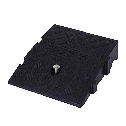 Rampas de goma para bordillos Pendiente Garaje Escalera antideslizante Accesibilidad Acceso para sillas de ruedas Empalme PVC liviano, 2 tamaños, 2 colores (Color: 2 piezas-Negro, Tamaño: 24.7X27X11CM