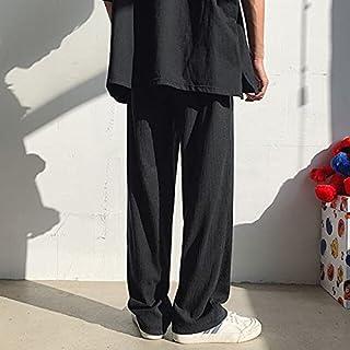 Casual Pants - Pleated Pants Men's Fashion Casual Wide-leg Pants Men Streetwear Korean Spring Summer Ice Silk Pants Mens S...