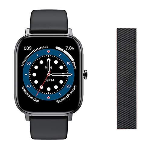 L18 Smart Watch Men IP68 ECG Impermeable Ritmo Cardíaco Monitor De Temperatura del Cuerpo Deportes Smartwatch para Android iOS,C