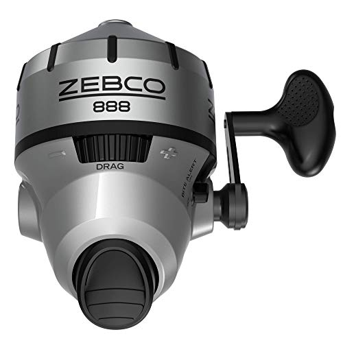 Zebco 888 Spincast Fishing Reel, 3 Bearings, Instant Anti-Reverse, Smooth Dial-Adjustable Drag, Stainless Steel Cover, Powerful All-Metal Gears, Pre-Spooled with 25-Pound Zebco Line, Silver