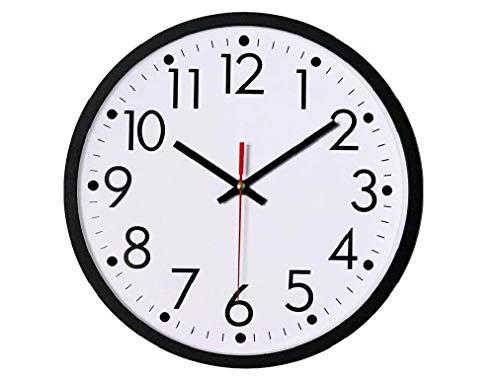 Wall Clock Large Big Digits Quartz Classic Design 23cm Round WallClock