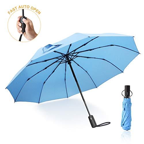 Paraguas Plegables Mujer, Paraguas Grande de 210 Teflón con 10 Férulas Reforzadas...