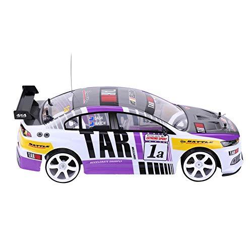 RC Drift Auto Spielzeug, 1/10 4-Räder Antrieb 4WD Fernbedienung Drift Auto RC Rennwagen Modell Spielzeug Fahrzeug(Zwei-Batteriefach (70 km/h))