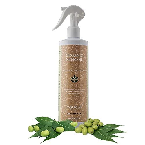 500ml Aceite de Neem Orgánico para Plantas y Flores - 100% Natural y Sin Tóxicos - Protección y Defensa de Todo Tipo de Insectos, Plagas y Enfermedades - Interior y Exterior - Spray Listo Para