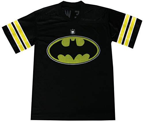 DC Comics Batman Mens Football Jersey, Black, Medium