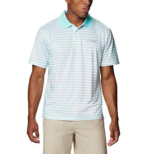 Columbia Super Skiff Herren Poloshirt, Gulf Stream/White Stripe, Größe L