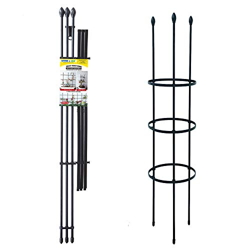 Steve & Leif 2 Pack Multi-fuction Garden Trellis for Climbing Plants,Plant Support for Climbing Vines,Flower,Vegetables,and More,Garden Support Ladder,Pot Trellis in Door and Outdoor
