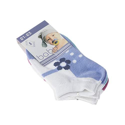 InterSocks Socke Kurzsocken - 3 pack - ohne Frotte - Bunte Ferse - Fine - Coton - Multicolore - Baby - 19/20