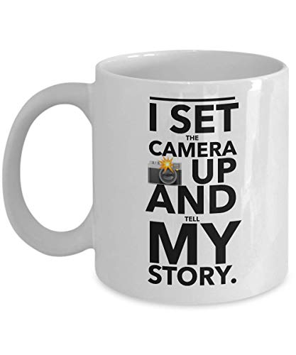 Taza de café Entertainer – I Set The Camera Up And Tell My Story Quotes Actor Comedian Playwright Filmmaker Stardom Celebrity Película Fame Fan 11 oz