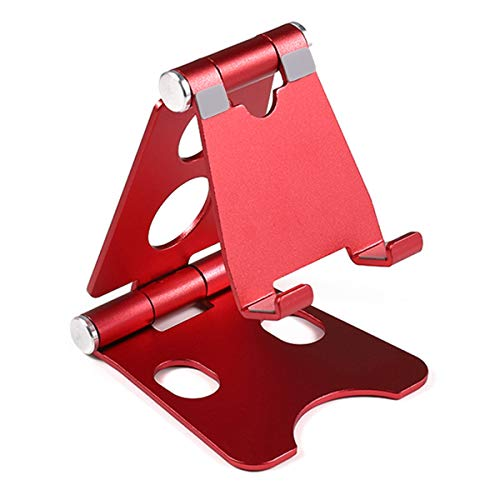 Tablet Stand, Foldable Rotatable Aluminum Alloy Desktop Stand Phone Holder Stand Mount Compatible with 8 inch Cellphones Tablets