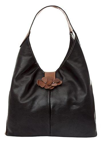 Mamatayoe Tacio, Bolso bandolera para Mujer, Negro (Black), 15x46x39 cm (W x H x L)