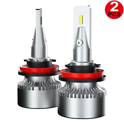 JUNING H11/H8/H9 LED Headlight Bulbs,100W 12000LM 6000K Cool White - IP67 CSP Chips High/Low Beam,Fog Light Bulb Conversion Kit