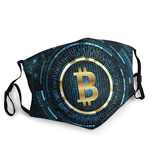ZVEZVI Bitcoin con Elementos significativos Máscaras de Moda Unisex de Longitud Ajustable,pasamontañas Que se Pueden Usar en casa y al Aire Libre