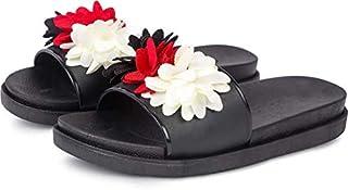 WMK Stylish Comfortable Flower Slides Slipper Flip-Flops for Women and Girls