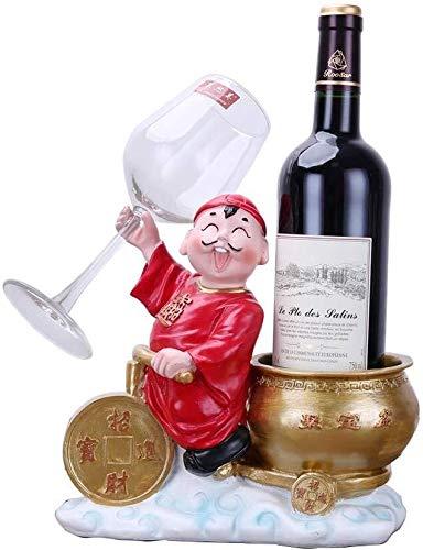 Estantería de vino Estante del vino, vaso de vidrio de vino decoración del hogar creativo cornucopia decoración del hogar sala de estar con bar de vinos y restaurante, 2 colores estante de vin