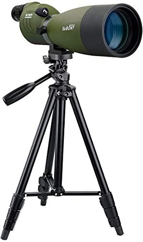 SVBONY SV17 25-75x70mm Spotting Scope Straight Waterproof Spotting Scope for Camping Hunting Bird Watching