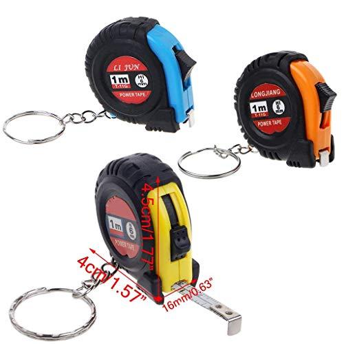N-K Regla extensible cinta métrica llavero en formato de bolsillo pequeño métrico 1 m diseño práctico y duradero