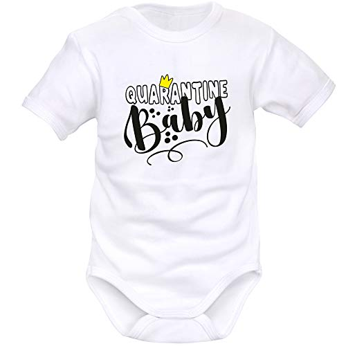Simedio Baby-Body Humor: Quarantine Baby (Quarantaine) Gr. 9-12 Monate, weiß