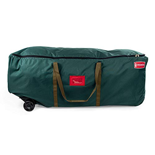 [Rolling Duffle Bag Tree Storage Bag] - Big Wheeled 9 Foot Christmas Tree Storage Bag for Artificial Trees up to 9 Feet Tall - Compression Straps to Secure Your Tree | Tree Keeper Big Wheel Duffle Bag