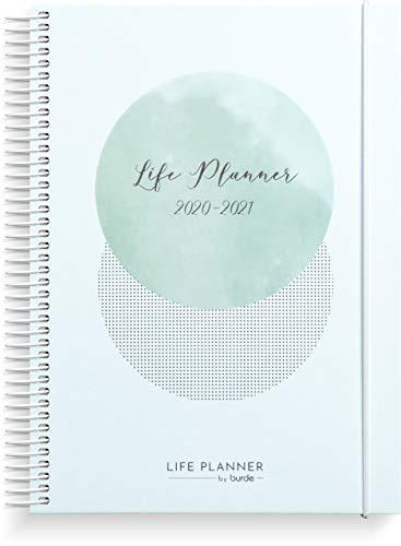 Kalender 2020 2021 Life Planner Blue - DIN A5 Schülerkalender für 3 Augusti 2020-29 August 2021 - Planen Sie Ihre Woche mit Stil - Beginnen Sie mit der Planung