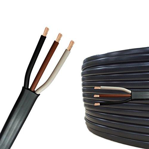 AUPROTEC 5m Flachkabel 3 adriges Elektrokabel Anhängerkabel 3 x 1,5 mm²