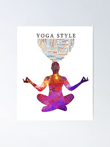 guyfam Yoga Thoughts Life Style Poster   Best Gift for Family and Your Friends 11.7 * 16.5 Inch