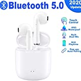 NANAHHT Écouteurs Bluetooth, Écouteurs sans Fil Bluetooth 5.0 avec étui de Chargement Portable, Mic HD Intégré et Son 3D Stéréo, IPX5 Étanche, 24hrs Playtime, pour Android Samsung Huawei iPhone