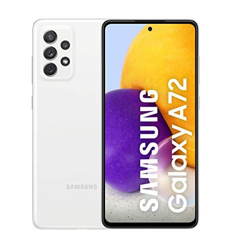 Samsung Smartphone Galaxy A72 con Pantalla Infinity-O FHD+ de 6,7 Pulgadas, 6 GB de RAM y 128 GB de Memoria Interna Ampliable, Batería de 5000 mAh y Carga Superrápida Blanco (ES Versión)