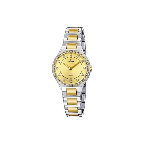 Festina Reloj Análogo clásico para Mujer de Cuarzo con Correa en Acero Inoxidable F20226/2
