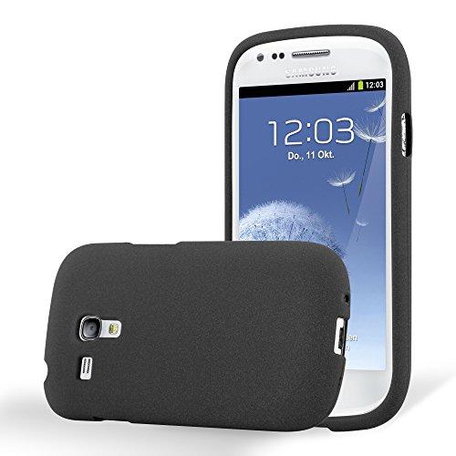 Cadorabo Hülle für Samsung Galaxy S3 Mini in Frost SCHWARZ - Handyhülle aus flexiblem TPU Silikon - Silikonhülle Schutzhülle Ultra Slim Soft Back Cover Hülle Bumper