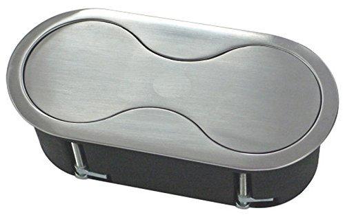 Installazione presa elettrica in acciaio inox con meccanismo a rotazione e coperchio cucina iony prese svolgerlo port * 552702