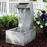 Ark Dcor- Backyard Water Fountains Outdoor - Gray Polystone with Pump - Bring Charm to Your Garden Or Veranda with This Eye-Catching Fountain