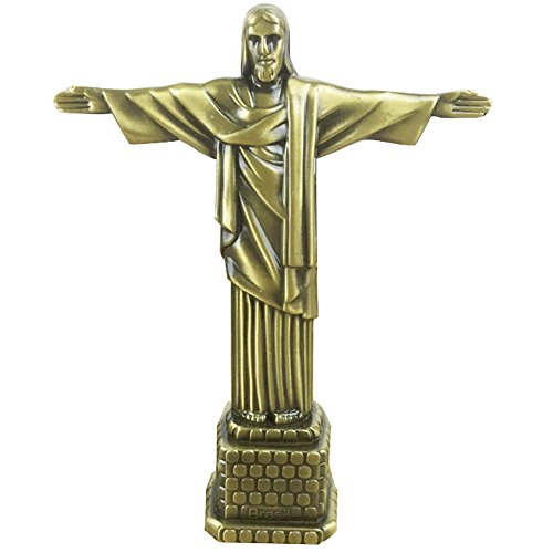 Statue of Jesus Figurine Art Christian Statue Model for Home Decoration-Antique Brass 7 inch (Jesus)